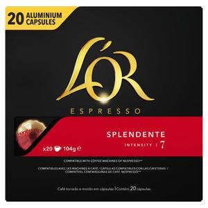 L'Or Expresso Splendente 7 Intensité x20 104g