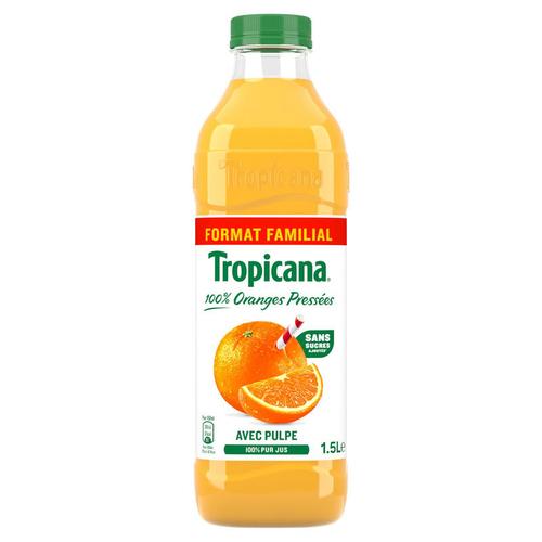 Tropicana jus d'orange avec pulpe bouteille de 1,5L
