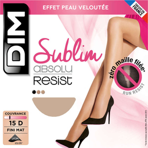 Collant En Lycra, Noir, 15D, Absolu Resist - Dim