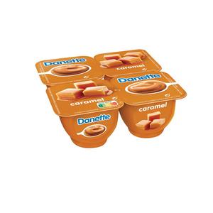 Danette crème dessert caramel le pack de 4x125g