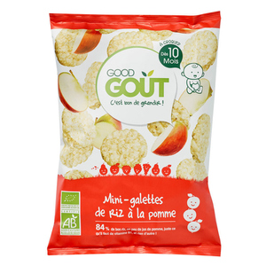 Good Goût Mini-Galettes De Riz à la Pomme Dès 10 Mois 40g