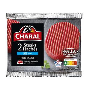 Charal Steaks Hachés Frais Pur Boeuf, 5% De Mat. Gr..