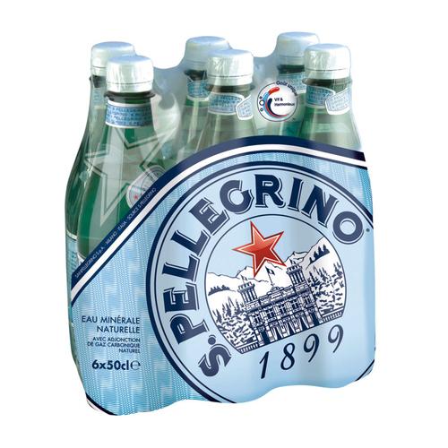 San Pellegrino eau minérale gazeuse le pack de 6x50cl.