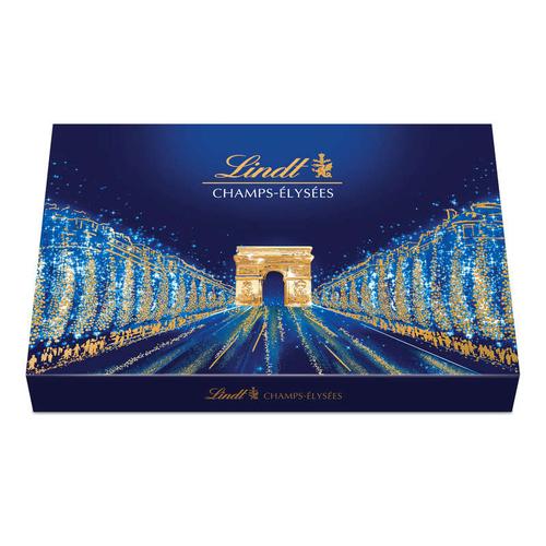 Lindt assortiment de 44 bouchées de chocolats extra-fins au lait, noirs et blancs 469g.