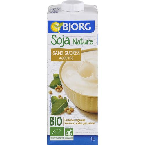 Bjorg Lait Soja Sans Sucres Ajoutés Bio 1l