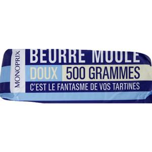 Monoprix beurre moulé doux 500g