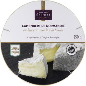 Monoprix Gourmet Camembert de Normandie au lait cru 250g