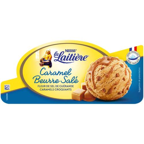 La Laitière Glace caramel beurre salé 510g