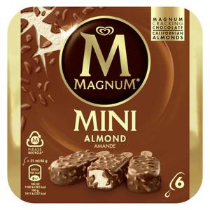 Magnum Glace Bâtonnet Mini Amande x6 330ml