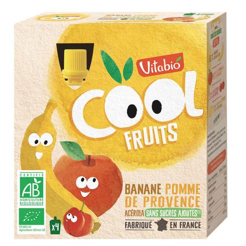 [Par Naturalia] Vitabio Cool Fruits Pomme Banane & Acerola 4X90G Bio