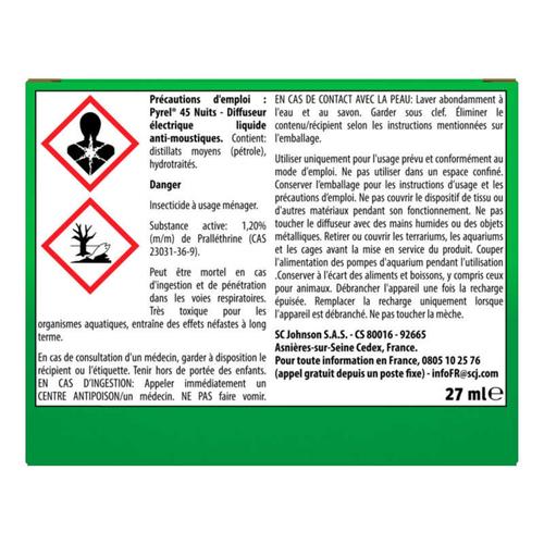 Pyrel Diffuseur Électrique Anti-Moustiques Sans Parfum Ajouté + 1 Recharge