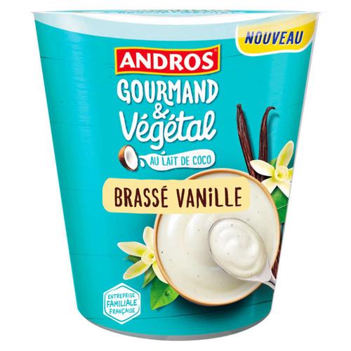 Andros végétal Brassé vanille au lait de coco 400g