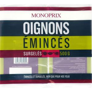 Monoprix Oignons émincés, surgelés 500 g