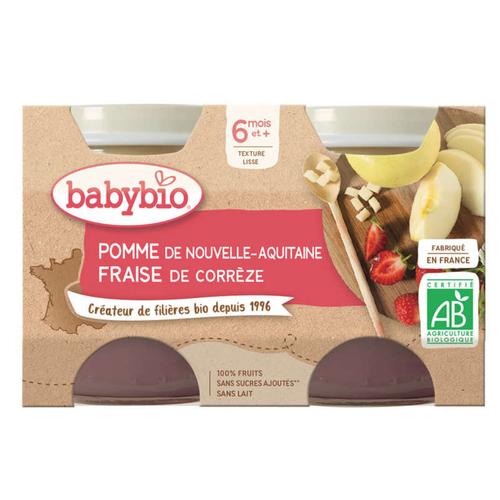 Babybio Petits Pots Pomme Fraise Dès 6 Mois 2x130g