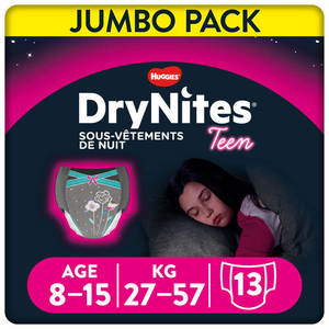 Drynites Culotte de Nuit Fille 8-15 Ans 27-57kg x13