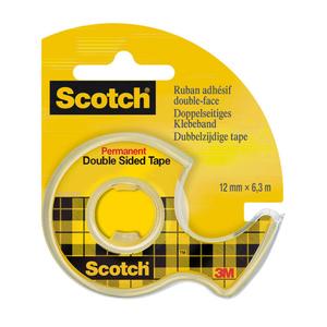 Scotch Adhésif Double Face avec Dévidoir 12mmx6,3m.