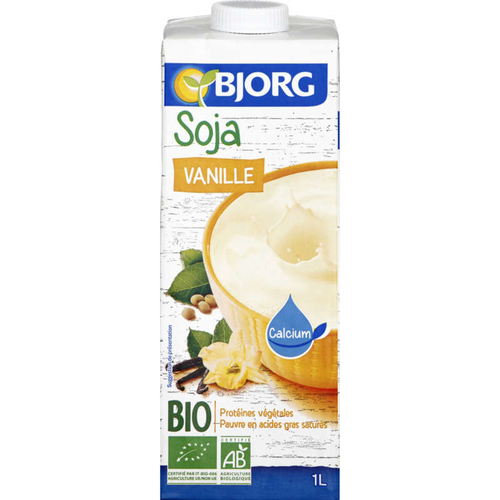 Bjorg Boisson Soja Vanille, Bio 1L