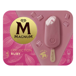 Magnum Glace Bâtonnet Ruby x4 360ml