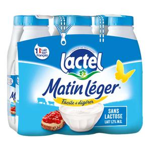 Matin léger lait UHT le pack de 6x1L.