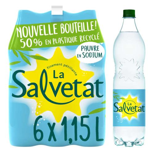 Salvetat eau minérale naturelle gazeuse 6x1,15L.