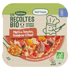 Les Recoltes Bio Mijoté de Tomates Boulghour et Boeuf dès 12 Mois 230g