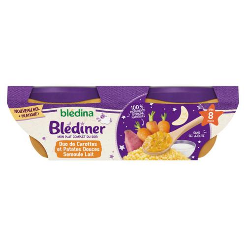 Blédina Plat Blédiner Carottes & Patates Douces Dès 8 Mois 2x200g