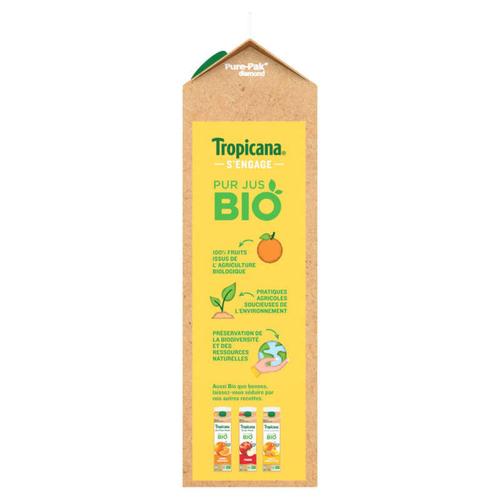 Tropicana Bio Jus d'Orange Mandarine & Raisin Pack 85cl