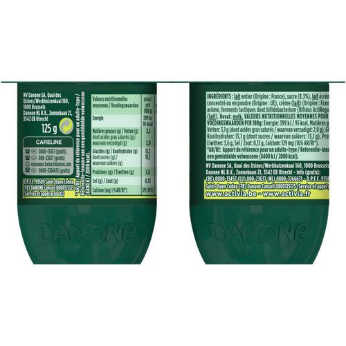 Activia Yaourt citron bifidus  4x125g