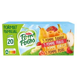 Pom'potes compote de pommes et abricot le pack de 20x90g