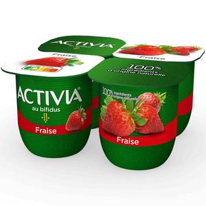 Activia Yaourt aux fruits fraise bifidus 4x125g