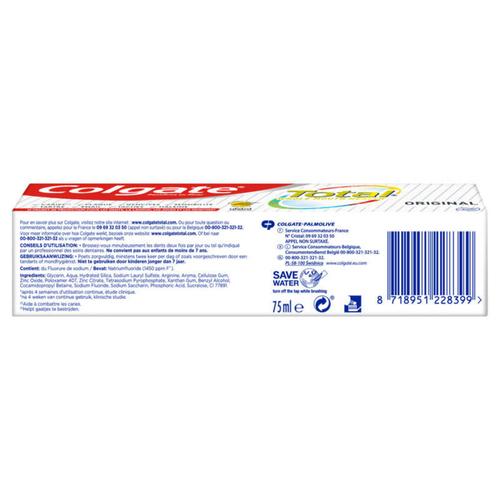 Colgate Total Original Dentifrice 75ml
