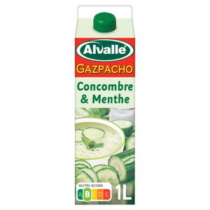 Alvalle soupe froide de concombre et menthe 1L