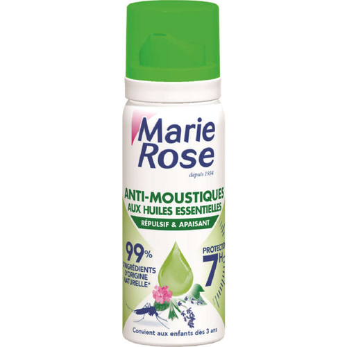 Marie Rose Anti-Moustiques 2 en1 Répulsif Apaisant, Huiles Essentielles.