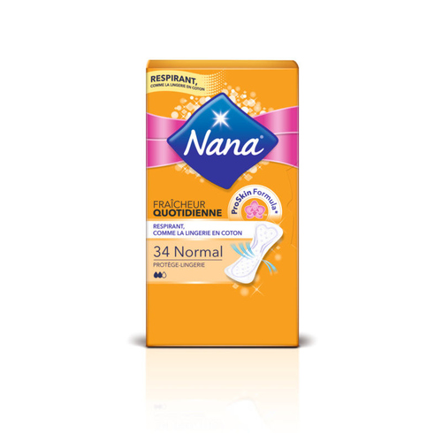Nana Protège-lingerie Fraîcheur Quotidienne Normal Plat x34