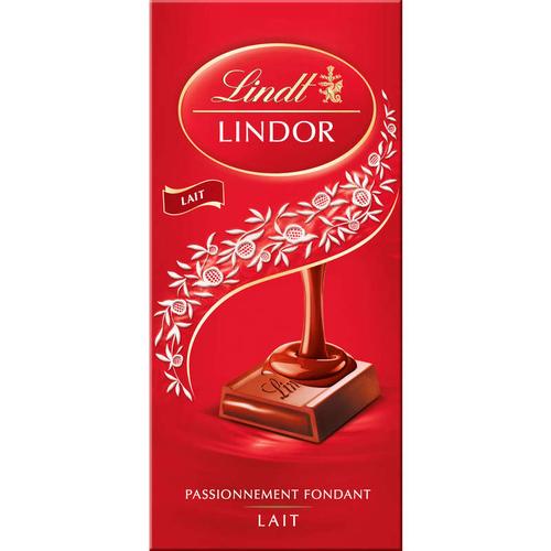 Lindt Tablette Lindor Chocolat Lait 150g