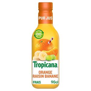Tropicana Pur Jus Frais d'Orange Raisin Banane la Bouteille de 90cl