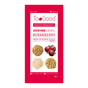 Toogood Biscuits Croquants Avoine & Miel Cranberry 125G