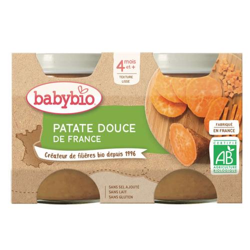 Babybio Petits Pots Patate Douce de France Dès 4 Mois 2x130g
