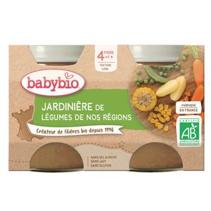 Babybio Petits Pots Jardinière de Légumes Dès 4 Mois 2x130g
