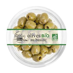L'Atelier Blini Olives Bio au Basilic 150g.