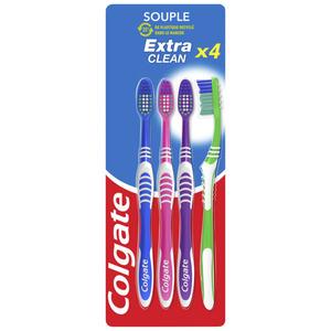 Colgate Brosse à Dents Souple x4