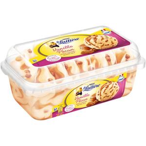 La Laitière Glace vanille pécan sauce caramel beurre salé 510g.