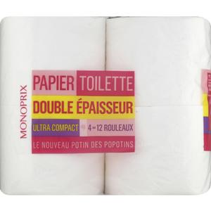 Monoprix Papier toilette double épaisseur x4