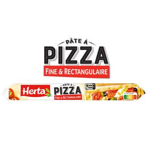 Herta pâte à pizza fine et rectangulaire