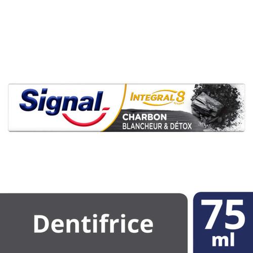Signal Dentifrice Antibactérien Integral 8 Nature Elements Charbon Blancheur & Détox 75ml.