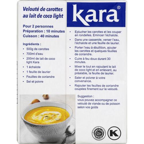 Kara lait de coco light 20cl.