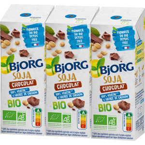 Bjorg Boisson soja chocolat, bio 3x25cl