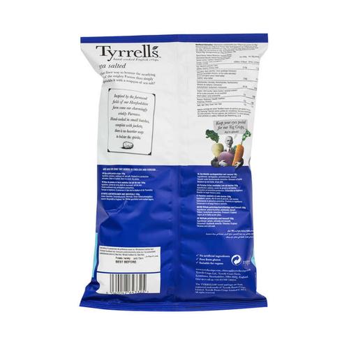 Tyrrells Chips Sea Salter, Pommes De Terre Ondulées, Au Sel De La Mer 150g