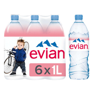 Evian Eau minérale naturelle 6x1L