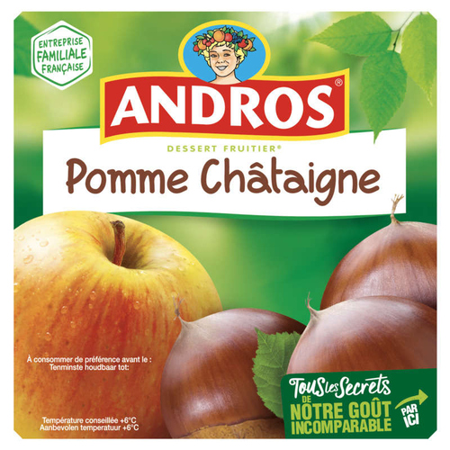 Andros Compote Pomme Châtaigne 4x100g